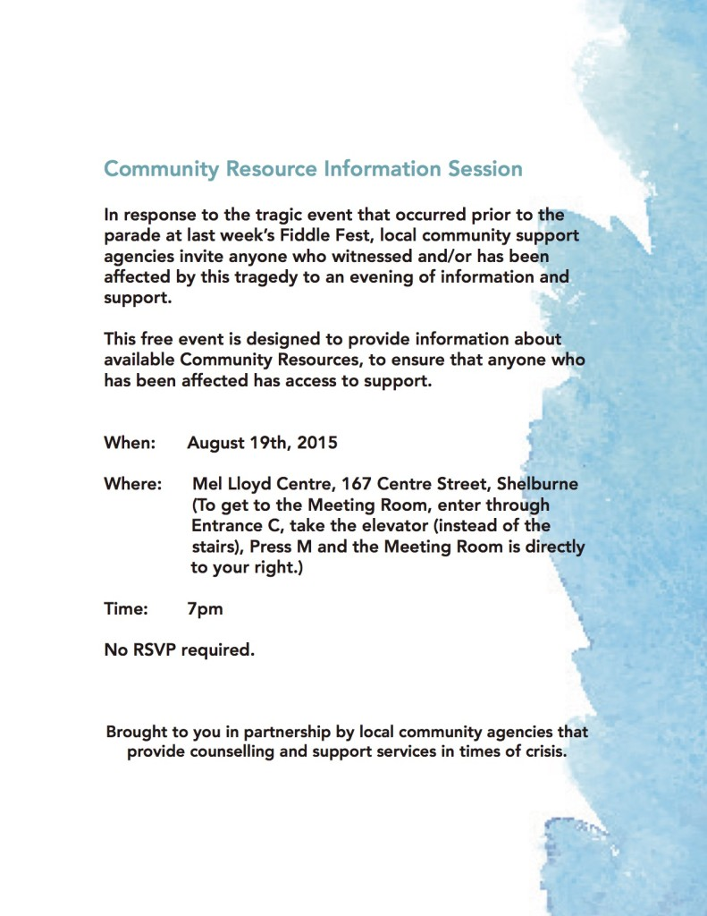 Community Information Session Flyer