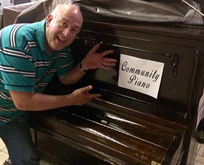 ORANGEVILLE MAYOR JEREMY WILLIAMS has supported the 'community piano', located on Broadway outside The Altered Native, since it first made an appearance earlier this summer.